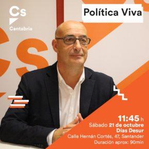 El diputado nacional y portavoz de Cs Cantabria, Félix Álvarez, se reúne con afiliados dentro de la iniciativa 'Política Viva'