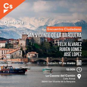 Cs Cantabria se reunirá con los vecinos de San Vicente de la Barquera para abordar temas como la construcción del puerto deportivo