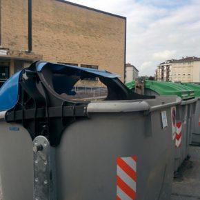 """Cs Santander critica el """"estado de abandono"""" de los contenedores de basura distribuidos por la ciudad"""