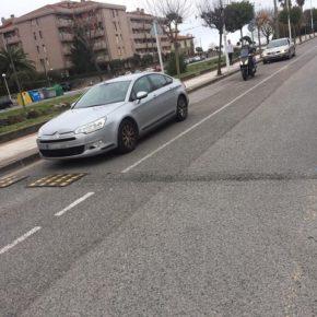 """Cs pide que se elimine el aparcamiento en batería de la Avenida Riomar porque """"compromete la seguridad vial"""""""