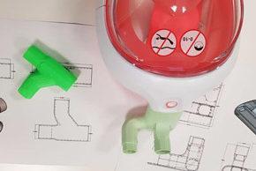 Las impresoras 3D de 'El Almacén de las Artes' fabrican también piezas para acoplar a los equipos de ventilación no invasiva
