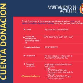 El Ayuntamiento de Astillero habilita una cuenta corriente para donaciones con el fin de ayudar en la lucha contra el coronavirus