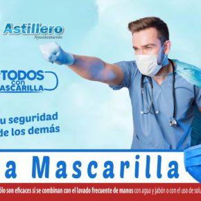 El Ayuntamiento de Astillero lanza una campaña de concienciación para el uso de mascarillas en espacios públicos