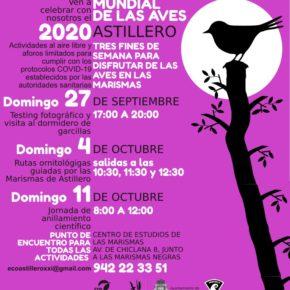 Astillero celebra el Día Mundial de las Aves con actividades con aforo limitado y medidas de prevención contra el COVID-19