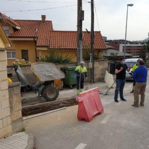 Comienza la obra de mejora del saneamiento en el entorno de la calle Fernández Escárzaga