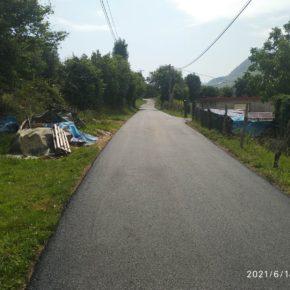 La junta vecinal de Sámano comienza una nueva fase del proyecto de asfaltado de sus viales