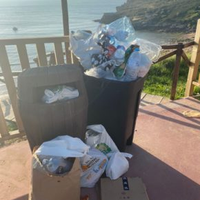 Ciudadanos Suances reclama más papeleras en el nuevo paseo de la playa de Los Locos